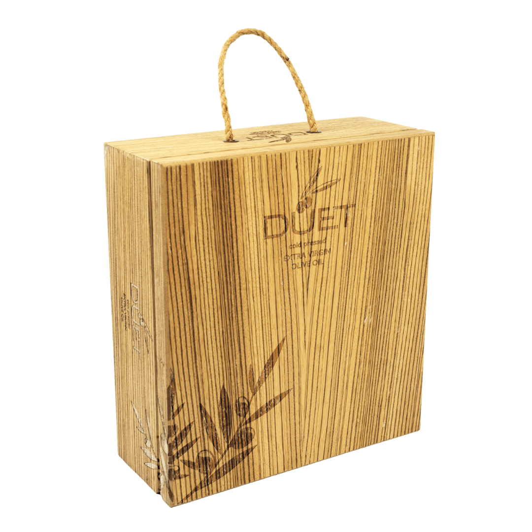 Rope Handle Wooden Box